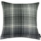 """McAlister Textiles Angus Tartan Check Charcoal Grey Cushion Cover - 16"""" Size"""