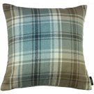 "McAlister Textiles Angus Tartan Check Duck Egg Blue Cushion Cover - 16"" Size"