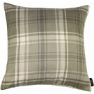 "McAlister Textiles Angus Tartan Check Natural Grey Cushion Cover - 16"" Size"