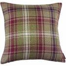 "McAlister Textiles Angus Tartan Check Purple + Green Cushion Cover - 16"" Size"