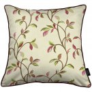 """McAlister Textiles Annabel Floral Cherry Red Cushion Cover - 16"""" Size"""