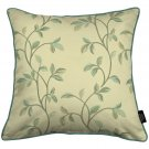 """McAlister Textiles Annabel Floral Duck Egg Blue Cushion Cover - 16"""" Size"""