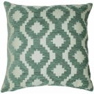 "McAlister Textiles Arizona Geometric Duck Egg Blue Cushion Cover - 16"" Size"