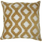 "McAlister Textiles Arizona Geometric Mustard Yellow Cushion Cover - 16"" Size"