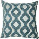 "McAlister Textiles Arizona Geometric Navy Blue Cushion Cover - 16"" Size"