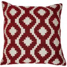 """McAlister Textiles Arizona Geometric Red Cushion Cover - 16"""" Size"""