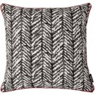 """McAlister Textiles Baja Black + White Abstract Cushion Cover - 16"""" Size"""