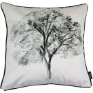 """McAlister Textiles Black + White Tree Scatter Cushion Cover - 16"""" Size"""
