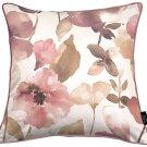 "McAlister Textiles Blush Pink Floral Velvet Cushion Cover - 16"" Size"
