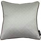 """McAlister Textiles Elva Geometric Taupe Grey Cushion Cover - 16"""" Size"""