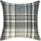 """McAlister Textiles Heritage Tartan Check Charcoal Grey Cushion Cover - 16"""" Size"""