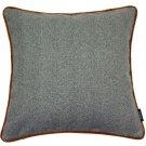 "McAlister Textiles Herringbone Boutique Grey + Orange Cushion Cover - 16"" Size"