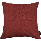 """McAlister Textiles Herringbone Red Cushion Cover - 16"""" Size"""