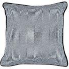 "McAlister Textiles Herringbone Twill Black + White Cushion Cover - 16"" Size"
