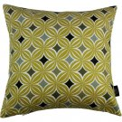 "McAlister Textiles Laila Diamond Print Ochre Yellow Cushion Cover - 16"" Size"