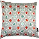 "McAlister Textiles Laila Diamond Print Terracotta Orange Cushion Cover - 16"" Size"
