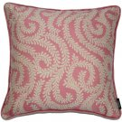 """McAlister Textiles Little Leaf Blush Pink Cushion Cover - 16"""" Size"""