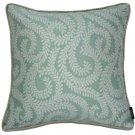 "McAlister Textiles Little Leaf Duck Egg Blue Cushion Cover - 16"" Size"