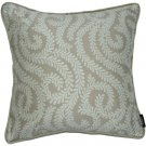 """McAlister Textiles Little Leaf Natural Stone Cushion Cover - 16"""" Size"""