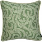 """McAlister Textiles Little Leaf Sage Green Cushion Cover - 16"""" Size"""