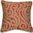 "McAlister Textiles Little Leaf Spice Orange Cushion Cover - 16"" Size"