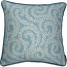 """McAlister Textiles Little Leaf Wedgewood Blue Cushion Cover - 16"""" Size"""