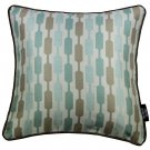 """McAlister Textiles Lotta Duck Egg Blue + Brown Cushion Cover - 16"""" Size"""