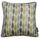 """McAlister Textiles Lotta Ochre Yellow + Grey Cushion Cover - 16"""" Size"""