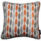 "McAlister Textiles Lotta Terracotta Orange + Grey Cushion Cover - 16"" Size"