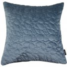 """McAlister Textiles Pebble Quilted Dark Blue Velvet Cushion Cover - 16"""" Size"""