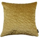"""McAlister Textiles Pebble Quilted Yellow Gold Velvet Cushion Cover - 16"""" Size"""