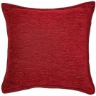 """McAlister Textiles Plain Chenille Red Cushion Cover - 16"""" Size"""