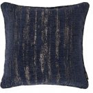 "McAlister Textiles Textured Chenille Navy Blue Cushion Cover - 16"" Size"