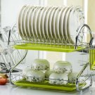 Dish Drying Rack Kitchen Washing Holder Basket Plated
