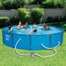 Swimming Yard Pool FUN Steel Pro MAX 12 x 30 Above Ground Pool Set with Pump