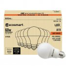 60 Watt Equivalent A19 Non Dimmable LED Light Bulb Soft White 8 Pack