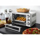Stainless Steel Family-Size Pizza Cook Convection Toaster Oven 6 Slice Brushed