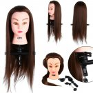 24' Cosmetologist Mannequin w /Clamp Human Hair Hairdressing Training Model Doll