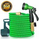 50FTGreen HEAVY DUTY Outdoor Expandable Hose Garden Nozzle sprayer