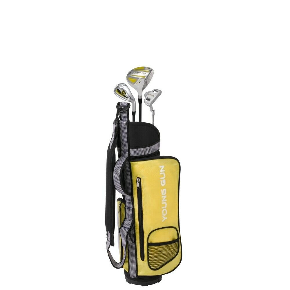 Young Gun YELLOW Junior golf club Youth Right Hand Set bag for kids Starter