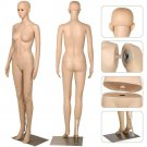 Female Full Body Mannequin Plastic Realistic Display Head Turn Dress form w/Base