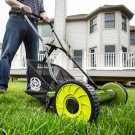 Sun Joe MJ500M Manual Adjustable Reel Mower w/ Grass Catcher   16 inch