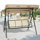 3 Person Outdoor Patio Swing Canopy Awning Yard Furniture Hammock Steel
