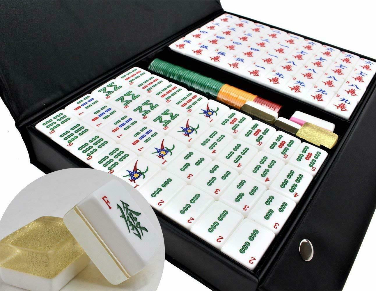 ��質麻� [����質] Chinese Numbered Large Acrylic Tiles Mahjong S