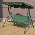 3 Seats Patio Canopy Swing - Black