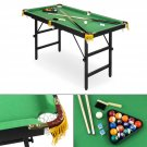 New 4ft Mini Table Top Pool Table Game Billiard Board Balls Set cue W Ping Pong
