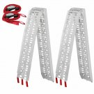 2x 7.5' Folding Aluminum ATV Loading Ramp Lawnmower Motorcycle Truck Heavy Duty