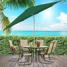 9' Aluminum Patio Market Umbrella Tilt W/ Crank Outdoor Deck- Yard Multi Colors