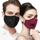 2pcs outdoor Pollen Dust Mask Cashmere Washable Comfortable Anti-fog Mask