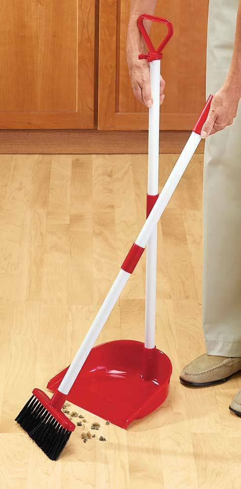 Long Handled Dust Pan with Broom Yard Garden Playroom Clean up easy household